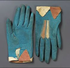 Pair of women's gloves. European, Early 19th century. MFA Boston