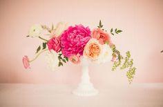 Low floral arrangeement