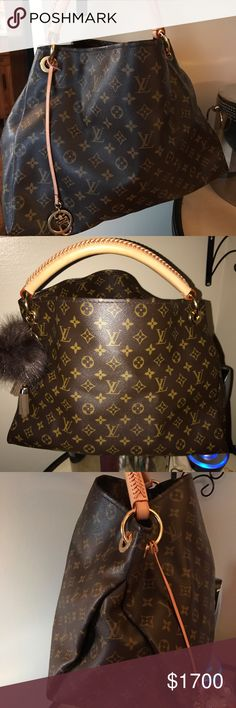 Authentic Louis Vuitton Artsy MM Authentic Louis Vuitton Artsy MM GREAT CONDITION! Carried this Bag maybe 4 times! MM ... more details coming just wanted to give you a view!! Interested? More pics available by mail styliststyle@yahoo.com Louis Vuitton Bags Hobos