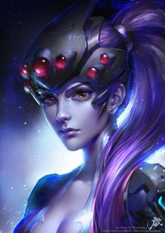 overwatch widowmaker and others, Qichao Wang on ArtStation at https://www.artstation.com/artwork/aaP32