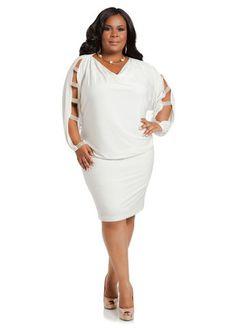 Ashley Stewart Blouson Dress