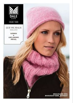 Lue og hals – Dale Garn - Lilly is Love Knitted Hats, Crochet Hats, Drops Design, Beanie Hats, Beanies, Baby Knitting, Hue, Knitting Patterns, Winter Hats