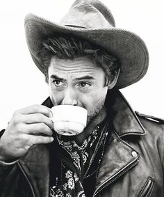 Robert Downey Jr. drinks tea