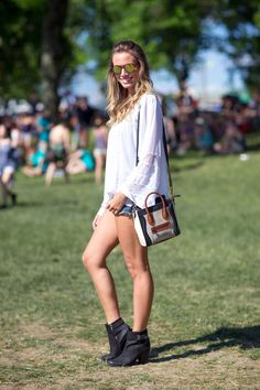 Boho chic: these girls aced their music festival style. See the best dressed from Governors Ball here.