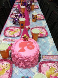 Emmies Barbie cake for birthday