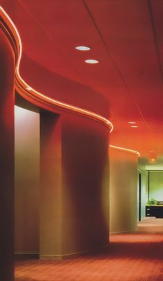An 80s office hallway from Commercial Interiors International