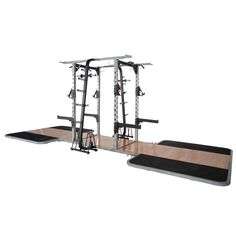 """Pro Maxima PL-300 Pro Double Sided Half Rack w/ 2 Oak Platforms - Frame constructed  from 3"""" x 3"""" high stress, heavy wall steel tubing with laser engraved numbering system for exact bar location.  Solid Oak Center platforms with inserts. http://www.power-systems.com/p-5066-pro-maxima-pl-300-pro-double-sided-half-rack-w-2-oak-platforms.aspx"""