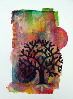 Tree of Life - Hmmm - thinking of this with layered torn tissue, paint and cut paper tree, maybe 5th grade