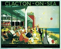 'Clacton-on-Sea', LNER poster, 1926.