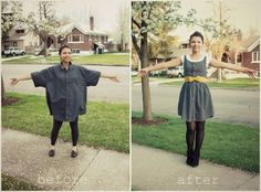 Refashion a men's button up shirt into a sweet little summer dress. - Click image to find more hot Pinterest pins
