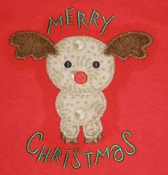 EXCLUSIVE Sweet Reindeer Machine Embroidery by FiveStarFonts, $4.99