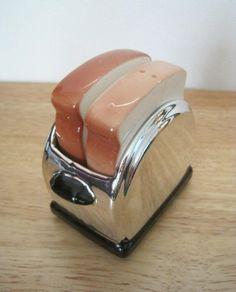 vintage salt and pepper shakers | Vintage 70s Salt and Pepper Shaker Set Toast