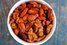 Paleo Spiced Nuts- I'm not on a Paleo diet or anything, but these look pretty awesome!