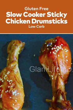 Slow Cooker Sticky Chicken Drumsticks one of the best recipes with chicken make for a superb lunch; they're also the perfect starters for a dinner party. Chicken Drumstick Recipes, Chicken Recipes, Sticky Chicken, Chicken Drumsticks, Delicious Dinner Recipes, Starters, Family Meals, Slow Cooker, Good Food