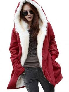 Winter Thicken Outerwear Parka Fur Hooded Coat.....I wish I had somewhere to wear this to so I could have one.