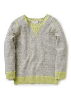 Boys Knitwear & Jumpers | Contrast Stich Sweater | Seed Heritage