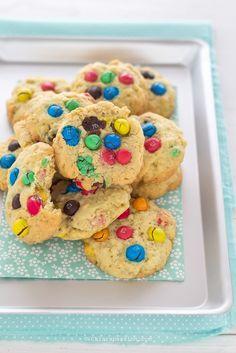 Cookies M&M's (biscotti con Smarties) - facili e veloci- cookies california bakery- Chiarapassion