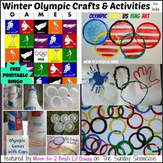 winter olympic crafts and activities for kids