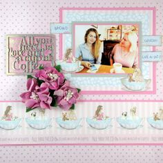 """""""All you need is love and a cup of coffee!"""" FabScraps C103 Coffee Confessions collection."""