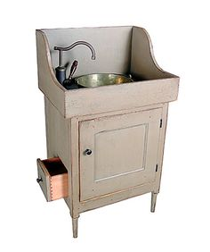 Shaker Washstand Vanity With a Toilet Paper Drawer