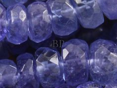 Luxurious Blue Tanzanite Small Micro Faceted by Beadspoint on Etsy, $12.99