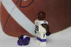 Lego Adrian Peterson Custom Minifig Football Minnesota Vikings NFL 28 Pro Bowl | eBay
