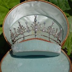 Victorian Tiara. Victorian Natural Pearl & Diamond Tiara (converts to necklace) c.1870.