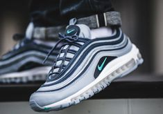 The Nike Air Max 97 Monsoon Blue coming soon - - womentrend Blue Sneakers, Casual Sneakers, Air Max Sneakers, Sneakers Fashion, Sneakers Nike, Black Nike Shoes, Blue Nike, Kd Shoes, Air Max 97 Outfit