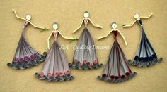 25 ideas for quilling Quilling Videos, Quilling Dolls, Quilling Paper Craft, Paper Crafts, Crafts To Make, Arts And Crafts, Diy Crafts, Hand Crafts, Cute Christmas Decorations