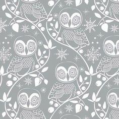 Snow Owl Printed Gift Wrap - Jumbo Rolls - Holiday Collection