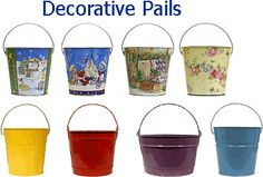 Decorative Pails, Colored Buckets-need 2 qt for easter buckets