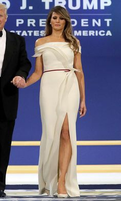 "INAUGURAL BALL BELLES  For the three inaugural balls held on Friday, January 20, First Lady Melania Trump collaborated with former Carolina Herrera creative director Hervé Pierre for the off-the-shoulder column gown. ""It's an honor to dress the first lady,"" the designer told WWD. ""I was actually lucky because over my 20 years in the US, I dressed all the first ladies: Mrs Clinton at Oscar de la Renta, Mrs Bush and Mrs Obama at Carolina Herrera. So I feel lucky and honored to dress Melania…"