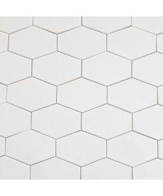 Kiln Ceramic White 5x3 Stretched Hex Tile Milk | Modwalls Designer Modern Tile. American made. Choose from 75 glossy and matte colors. At modwalls.com