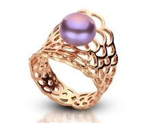 Freshwater Pearl Lattice Ring