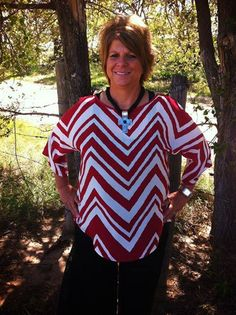 Like us on Facebook @ GypZ Ranch  Ride Along Red Chevron - Plus Size