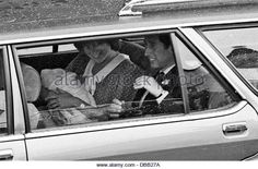 Princess Diana, Prince Charles  baby Prince William leave the Lindo Wing, St Mary's Hospital, Paddington West London 1982 - Stock Image