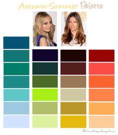 Autumn-Summer, Soft Autumn color palette