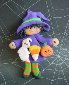 Easy Halloween Polymer Clay Ornament