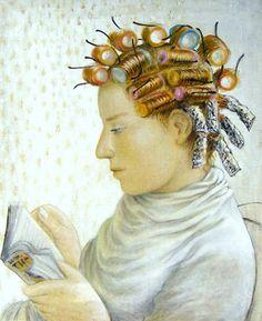 At The Hairdresser's - illustration by Chris Bennett Reading Art, Woman Reading, I Love Reading, I Love Books, Good Books, Books To Read, Illustrations Vintage, Illustration Art, Chris Bennett