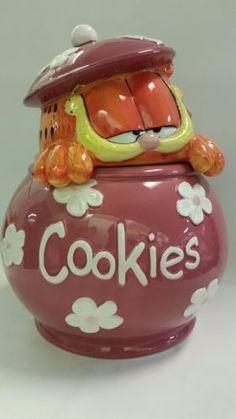 Garfield Cookie Jar Garfield  Garfield  Pinterest