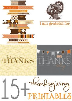 ROUND-UP of 15+ Thanksgiving Printables