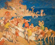 Frank Brangwyn (1867-1956) - Joy on the Beach