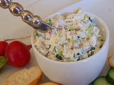 Vegetable- Goat Cheese Spread appetizer recipe