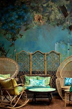 Discover wall mural design ideas on HOUSE - design, food and travel by House & Garden. The Glade room at London restaurant Sketch is a dream...