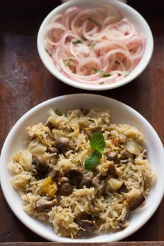 mushroom pulao - simple, quick and easy to make goan style mushroom pulao. step by step recipe.  #mushroom #pulao