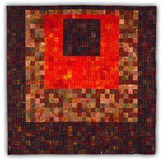 "jbe200quilts:  "" Orange Square  2000, 94"" x 94""  Eleanor McCain Art Quilts  """