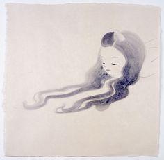 YAMAGUCHI Ai, acrylic on Japanese paper 56x56cm