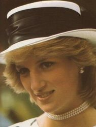 April 25, 1983: Princess Diana attends a Garden Party at Government House, Auckland.