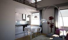Mieszkanie 100m2 z antresolą we Wrocławiu Decor, Furniture, Interior Design Projects, Interior, Simply Home, Oversized Mirror, Home Decor, Mirror