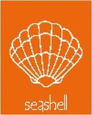 seashell cross stitch pattern, sea life